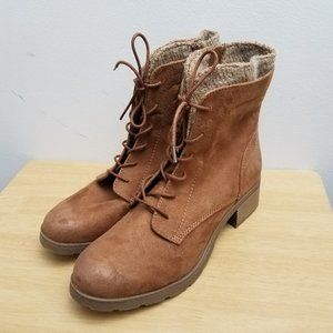 Universal Thread Boot Dez Brown Lace-up w Zip Sz 8